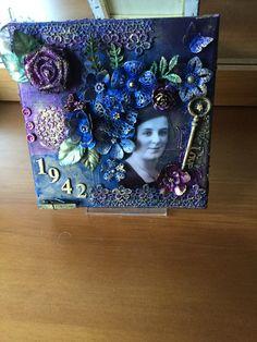 Mixed Media canvas -My Husband's Mum