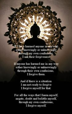 Buddha Forgiveness Prayer