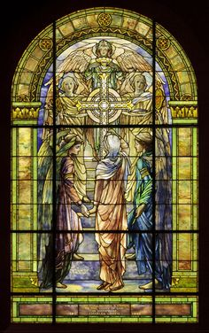 """""""The Righteous Shall Receive a Crown of Glory"""".  From the exhibition """"Louis C. Tiffany and the Art of Devotion"""" at the Museum of Biblical Art, NY"""