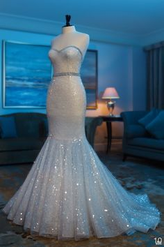 Abed Mahfouz 2013 -I see this in a midnight fantasy type wedding. Bring the spotlight on this gown. GORGEOUS!