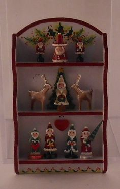 Santa Collector Shelf by Karen Markland - $259.50 : Swan House Miniatures, Artisan Miniatures for Dollhouses and Roomboxes