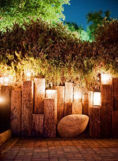 44 new Ideas garden seating sleepers railroad ties Railroad Ties Landscaping, Backyard Landscaping, Backyard Waterfalls, Backyard Ponds, Landscape Lighting, Outdoor Lighting, Lighting Ideas, Lighting Design, Wall Lighting