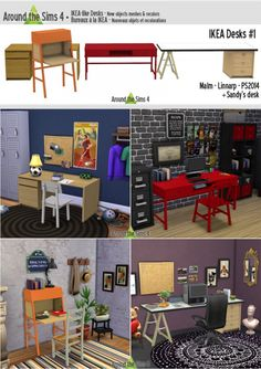 Ikea like desks by sandy at around the sims 4 image 1106 sims 4 updates