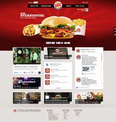 Concorrência Latam 2011 | Burger King by Thiago Barreto #Webdesign