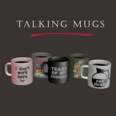 Talking mugs by Leo Sims for The Sims 4