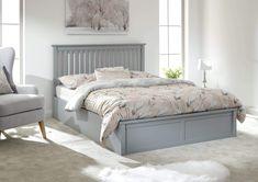 Ottoman Storage Bed, Ottoman Bed, Grey Ottoman, Upholstered Bed Frame, Upholstered Ottoman, Bedroom Furniture, Bedroom Decor, Master Bedroom, Girls Bedroom