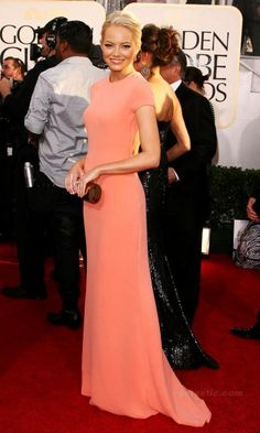 Emma Stone in Calvin Klein at Golden Globes 2011 (I have loved this dress from the very second I laid eyes on it!)