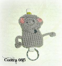 Schlüsseltasche Mario Maus von contra08/15 auf DaWanda.com