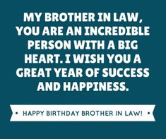 50 Happy Birthday Quotes for Husbands Brother - Quotes Yard Best Birthday Wishes Quotes, Birthday Wishes For Boss, Birthday Wishes For Brother, Happy Birthday Wishes Cards, Happy Birthday Drinks, Wish You Happy Birthday, Law Quotes, Brother Quotes, Energy Bites