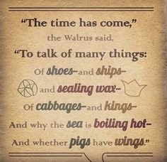 The Walrus & the Carpenter