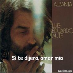 "-- #LyricArt for ""Al Alba"" by Luis Eduardo Aute"