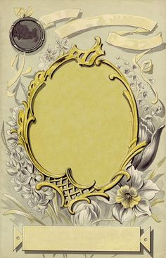 Gorgeous Art Nouveau Frame with Label ~ LÁMINAS ANTIGUAS 3-Ideas y Trabajos terminados (pág. 803)   Aprender manualidades es facilisimo.com
