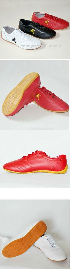 Shoes and Footwear 73989: Wushu Kung Fu Martial Arts Tai Chi Wing Chun Soft Cow Leather Shoes Sneakers -> BUY IT NOW ONLY: $33.5 on eBay!