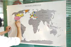 Scratch personalized world map 2 set on Etsy, $21.90