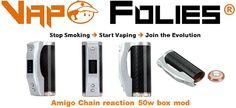 Box mod 50 watts #Amigo Chain Reaction – 56.03€