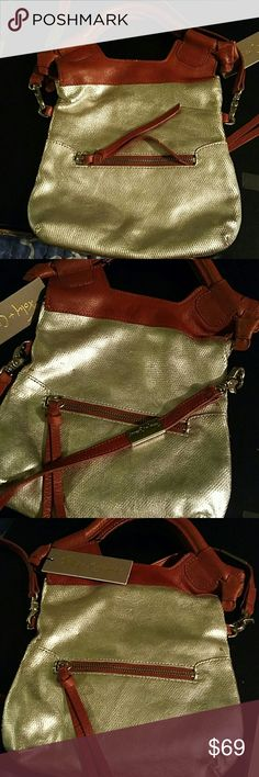 Foley +Corinna Disco City Purse Discount City Quicksilver metallic handbag with removable shoulder strap embellished with silver logo placket, attached by heavy duty claws.  2 outer zippers on either side with leather tassel pulls, leather upper, magnetic snap closure Foley + Corinna Bags