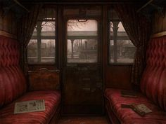 Riding in comfort; train car by Ilya Zonov  #Steampunk