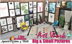 """Sims 4 CC's - The Best: Mega Pack - Big & Small Pictures """"Art Work"""" by Ann..."""