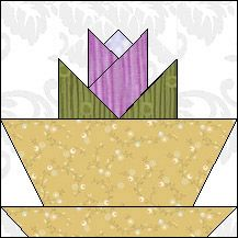 Block of Day for August 29, 2016 - Tulip Flower Pot