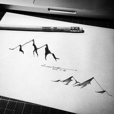 box9112@hotmail.com  #tat #tattoo #tattoos #tattooart #tattooartist #tattooist #tattoodesign #tattoosketch #tattoowork #tattooline #tattooer #art #artist #instattoo #blackink  #blacknwhite #blackart #blackwork #dotwork #linework #penandink #penart #draw #drawing #mountains #mountaintattoo
