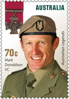 HONOUR: Mark Donaldson VC features on a postage stamp. DORRIGO'S Mark Donaldson VC is among five of Australia's most gallant and decorated soldiers to be immortalised on postage stamps as recipients of the 2015 Australia Post Legends Award. Act Of Valor, Anzac Day, Victoria, Thing 1, Stamp Collecting, Postage Stamps, Army, History, Poster