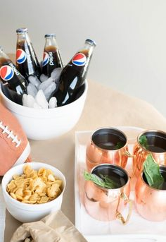 Our game-day Lipton Pure Leaf Lemon Tea Basil Mojito drink and Rold Gold Pretzel Sweet & Salty Trail Mix snack using @pepsico  products will be the perfect addition to your casual Sunday watch party! Via Bestfriendsforfrosting