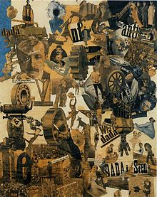 Hannah Höch, Cut with the Dada Kitchen Knife through the Last Weimar Beer-Belly Cultural Epoch in Germany, 1919, collage of pasted papers, 90x144 cm, Staatliche Museum, Berlin.