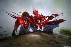 O artista português que faz o graffiti saltar do muro... nota máxima!   Tá Bonito