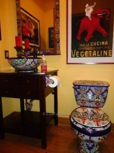 amazing mexican talavera toilets are stunning vibrant colorful toilets that will give your bathroom some life