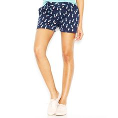"""""""Maison Jules Maddie Low-Rise Pineapple-Print Cuffed Shorts"""" found on Polyvore"""