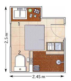 Small bathroom floor plans 3 option best for small space - Disenar un bano pequeno ...