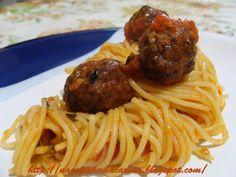 Almôndegas... com Espaguete! | Na Cozinha da Carina