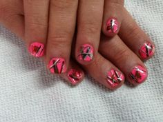 camo fingernail designs | Pink Camouflage nail design by Tish