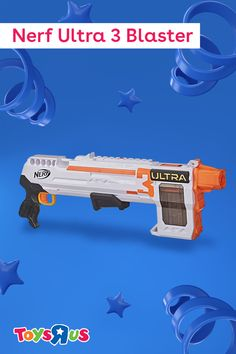Nerf Ultra darts soar farther than ever with the Nerf Ultra 3 Blaster! The three pump-action blaster launches eight Nerf Ultra darts up to 120 feet. Keep eight in the clip and store five in the on-board storage area for quick reloads and high-flyin' fun.