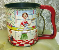 1950's Androck Flour Sifter oh to find you on a shelf...
