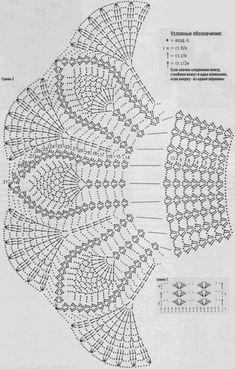 юбка ажурная вязание схема