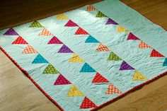 bunting quilt for wee Hendrix