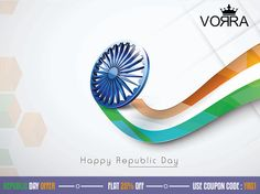 """This Republic Day! Get """"Shopping Freedom"""" with us @ Vorra-Fashion Forever Flat 25% OFF on all purchases Coupon Code : YR01 www.vorrafashion.com #RepublicDayOffer #GrabTheOffer #Vorrafashion"""