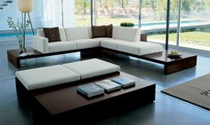 Zatana sofa by Dellarobbia.  Design by Dean Maltz. In white.  I love this design firm, you should definitley take a look through their products.