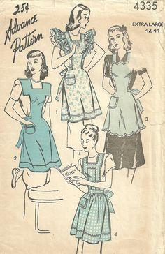 Advance 4335 Vintage 40s Sewing Pattern // by studioGpatterns