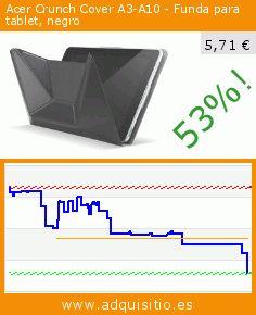 Acer Crunch Cover A3-A10 - Funda para tablet, negro (Ordenadores personales). Baja 53%! Precio actual 5,71 €, el precio anterior fue de 12,14 €. https://www.adquisitio.es/acer/crunch-cover-funda