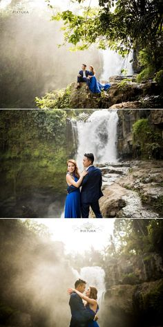 Engagement session at Tegenungan waterfall // View Bali Pixtura's portfolio at http://www.onethreeonefour.com/listing/BaliPixtura // #waterfall #bali #engagement