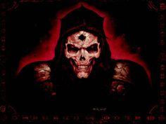 Diablo 2 Quake fantasy art dark horror skull evil scary spooky creepy face eyes wallpaper background