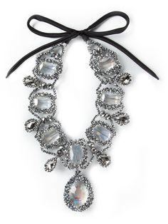 IGHT MARKET crystal ribbon necklace on Vein - getvein.com