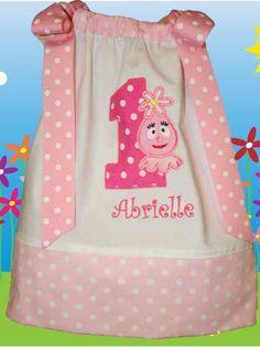 Boutique Girls Birthday Foofa Pillowcase Dress