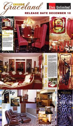 "An ""inside look"" in 120 pages at Elvis's house Graceland in 1975-1977, before Priscilla had it redecorated in the late seventies/early eighties."