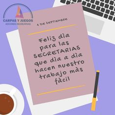 FELIZ DIA DE LA SECRETARIA!!!! www.carpasyjuegos.com.ar #CarpasYJuegos #Juegos #Eventos #AlquilerDeMaterial #AlquilerDeCarpas Boarding Pass, World, Secretary, Happy Day, Games, Events