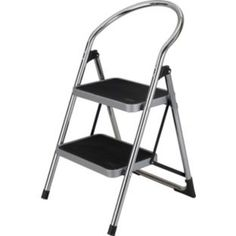 Buy 2 Step Chrome Step Stool at Argos.co.uk - Your Online Shop  sc 1 st  Pinterest & 2 Tread Safety Non Slip Folding Step Ladder Stepladder Kitchen ... islam-shia.org