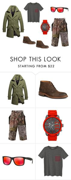 dramatico by laura-juvera on Polyvore featuring MANGO MAN, Maison Mihara Yasuhiro, Trask, Diesel, Ray-Ban, men's fashion and menswear