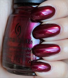 China Glaze Red-y & Willing from the Autumn Nights Collection (Click through to see an in-depth review & more swatches!)